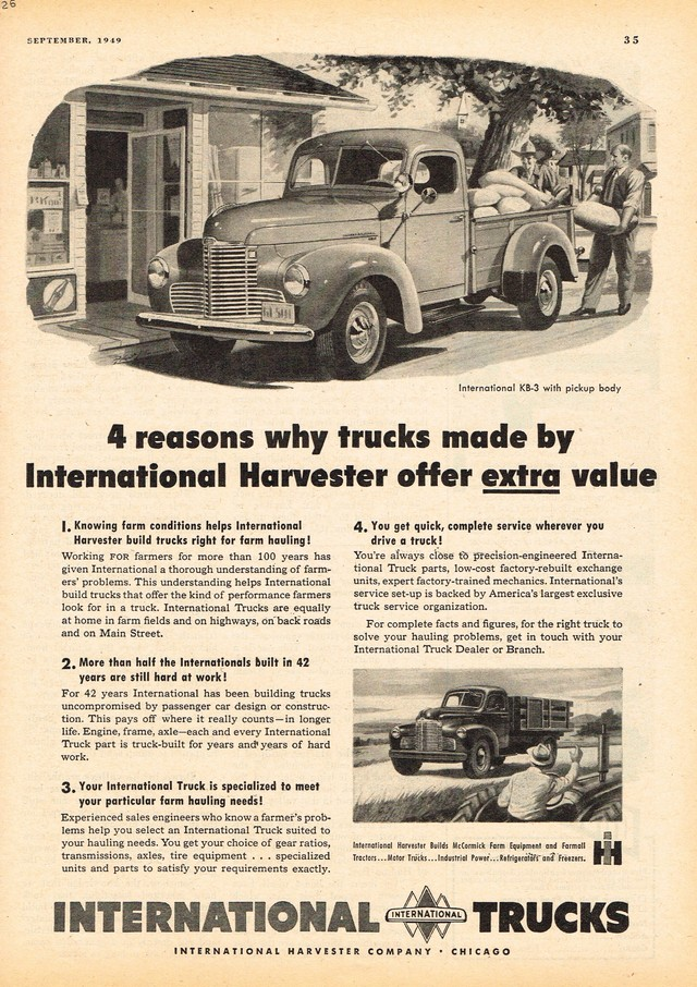 1949 International Pickup Truck KB-3 Photo Picture