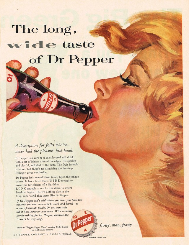 1959 Dr Pepper Advertisement Photo Picture