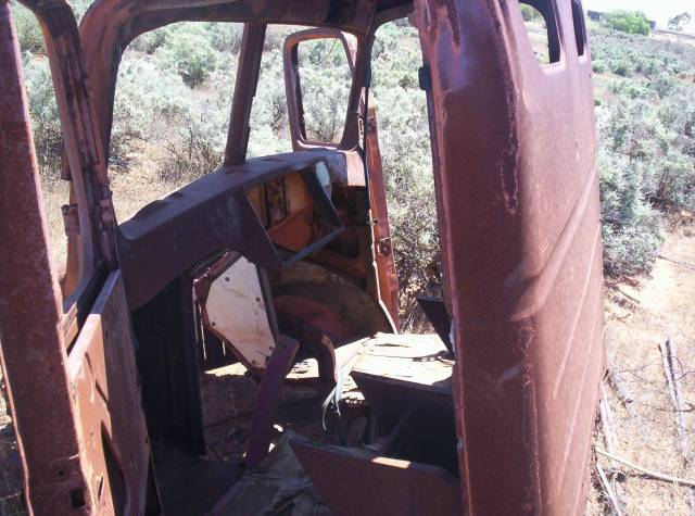 inside of an old rusty cab photo picture. Black Bedroom Furniture Sets. Home Design Ideas