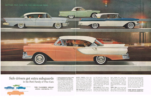 1957 Ford Motor Company Ad Photo Picture
