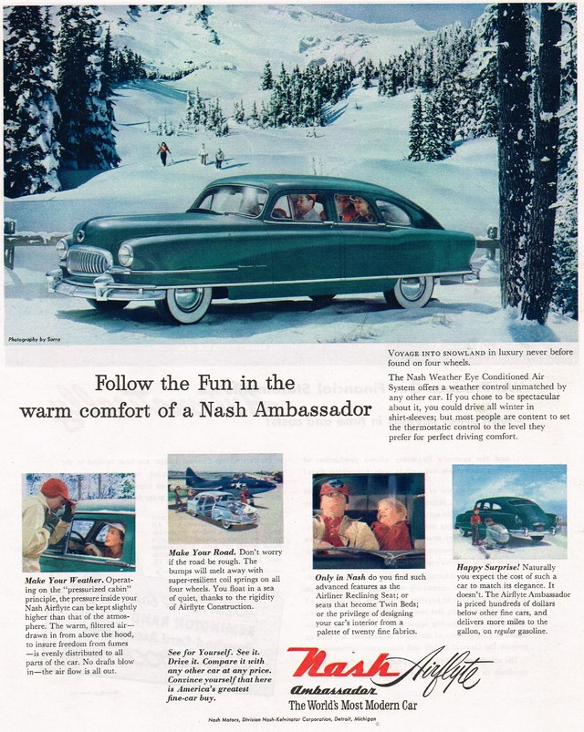Old Nash Motors Ad Photo Picture