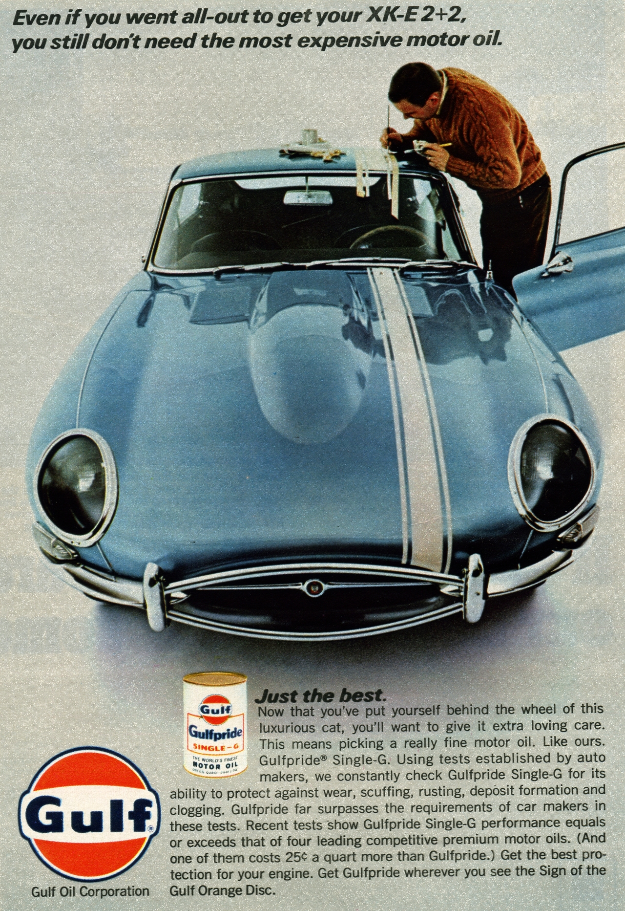 1967 gulf motor oil advertisement photo picture for Motor oil for older cars