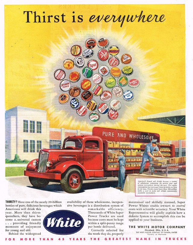 1946 white motor company ad photo picture for White motor company trucks