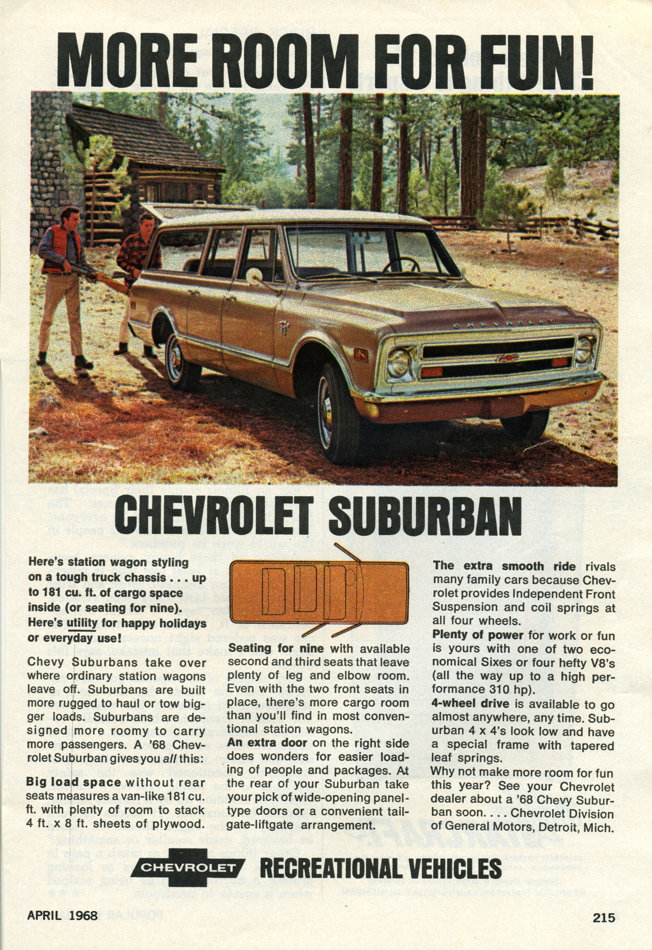 1968 Chevrolet Suburban Advertisement Photo Picture