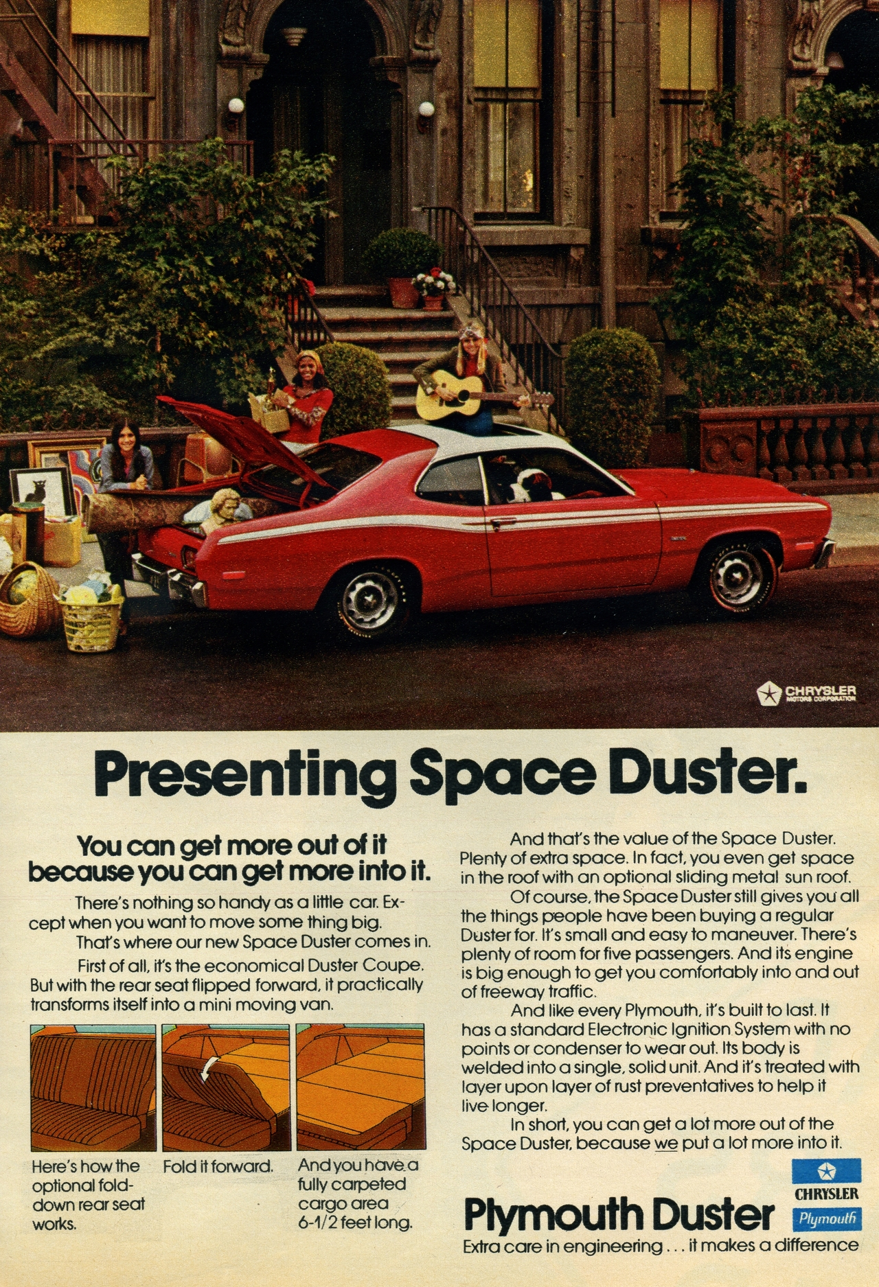 1972 plymouth duster advertisement photo picture. Black Bedroom Furniture Sets. Home Design Ideas