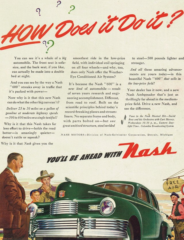 Old Nash Motors 600 Ad Photo Picture