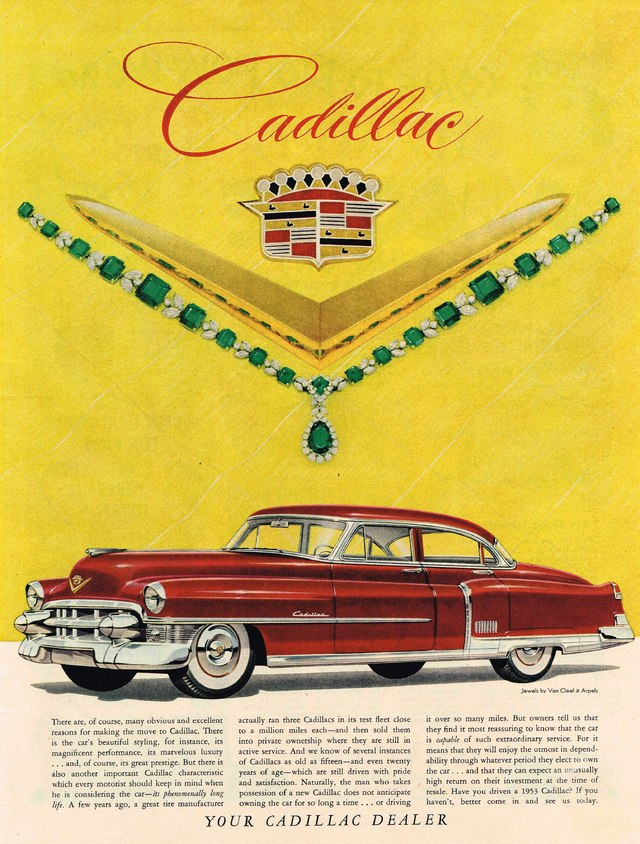 1953 cadillac deville 4 door sedan advertisement photo picture for 1953 cadillac 4 door sedan