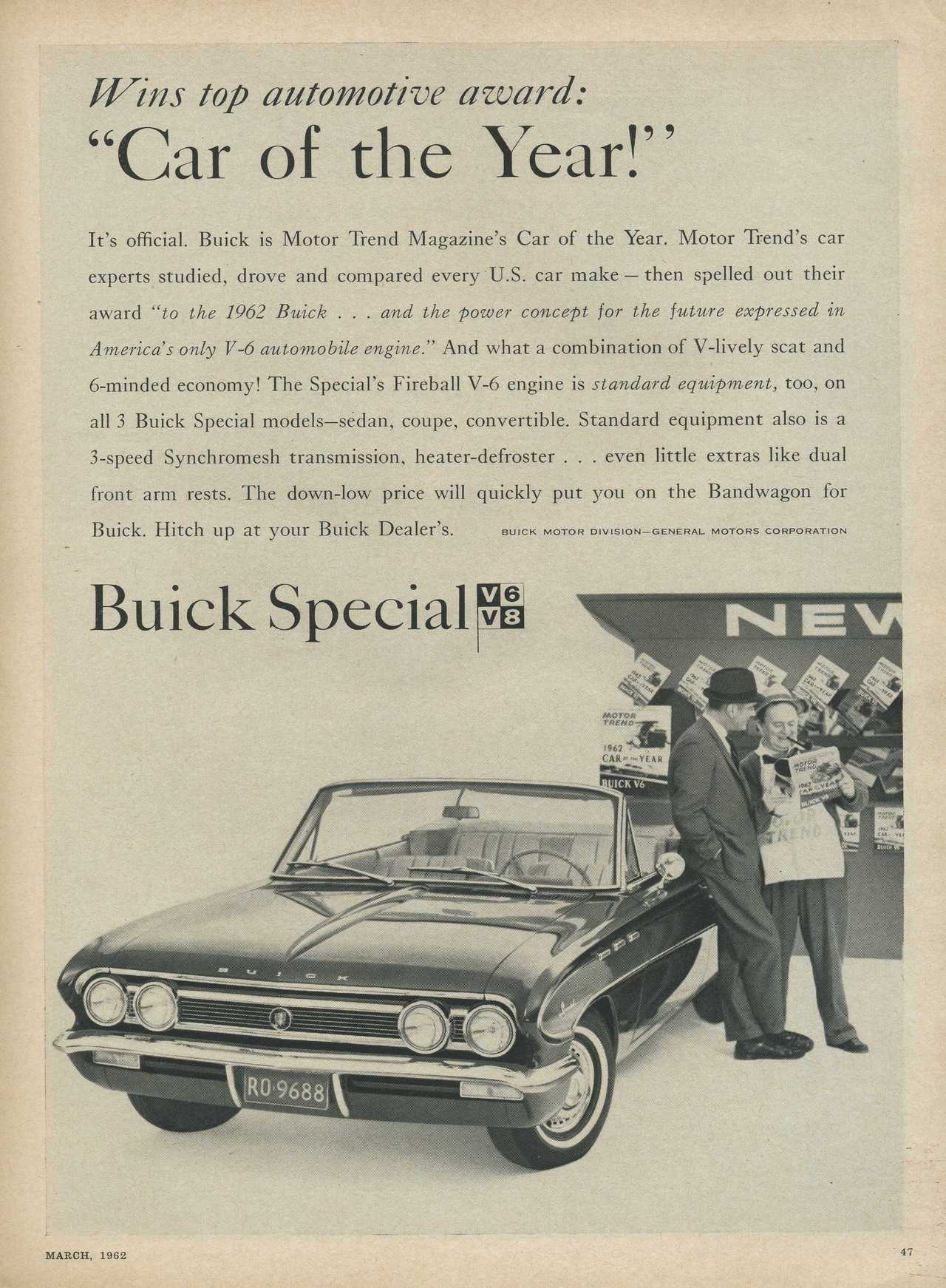 1962 Buick Special Car of the Year Photo Picture