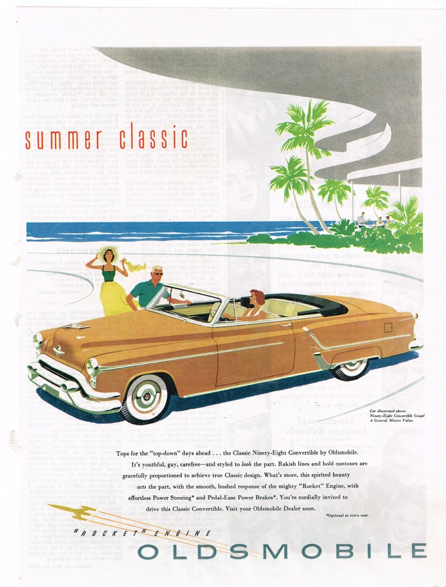 Summer Classic Oldsmobile 98 Convertible Photo Picture
