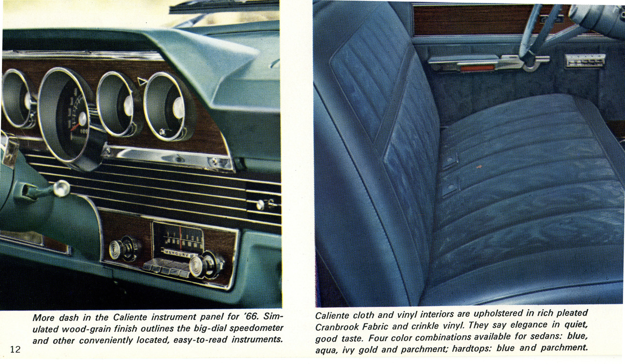 1966 mercury comet caliente interior photo picture. Black Bedroom Furniture Sets. Home Design Ideas
