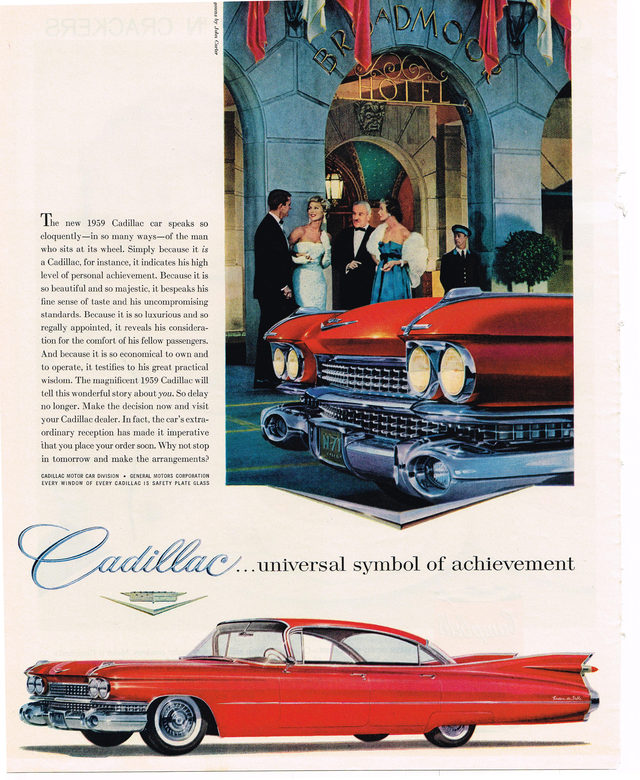 Car Photos Cadillac Deville 1959 Cadillac Sedan Deville Advertisement