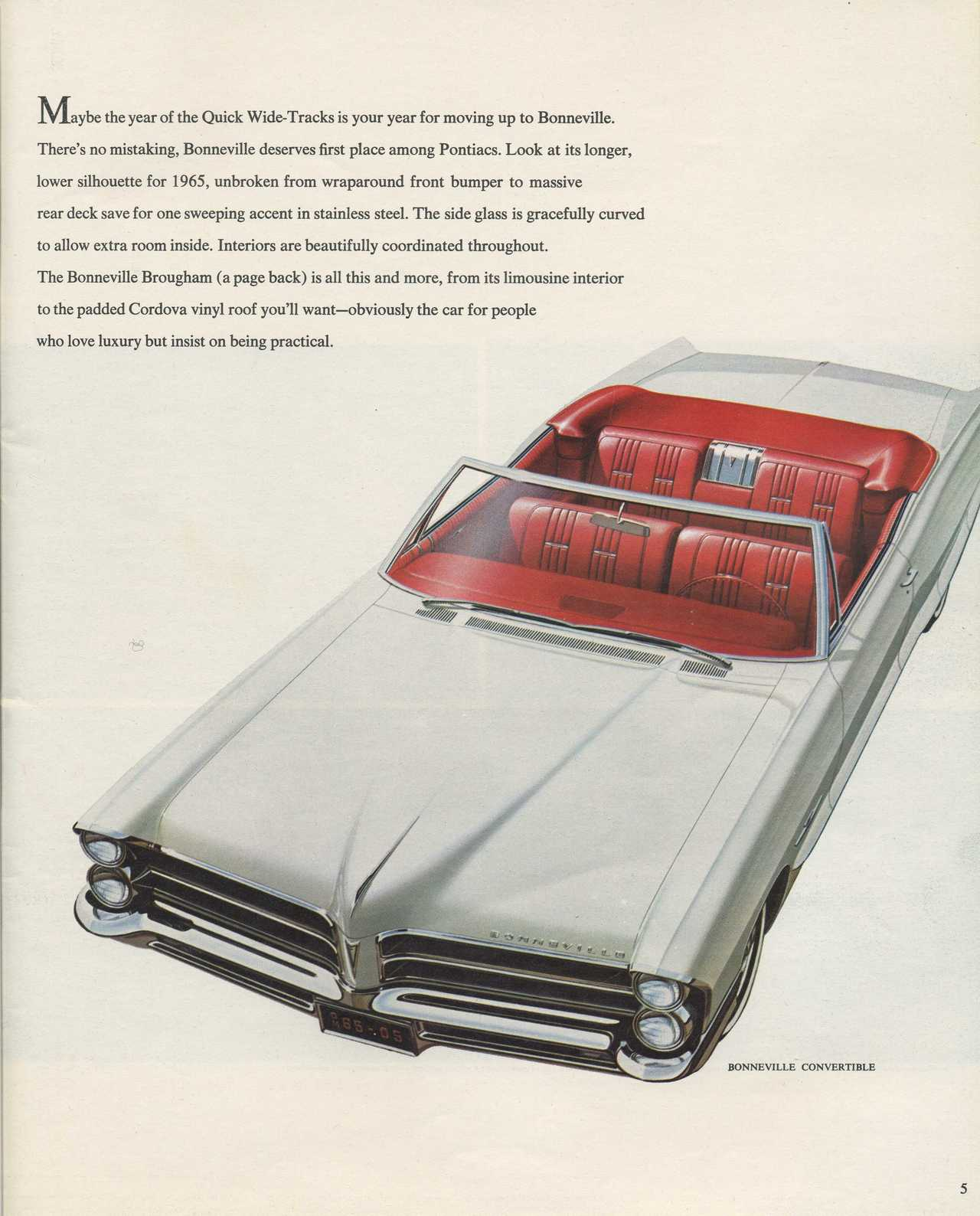 1965 Pontiac Brochure Photo Picture