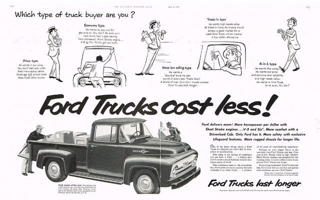 1956 ford f100 truck ad photo picture