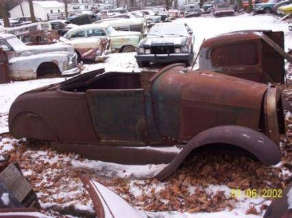 Old Cars Sinking Into Ground