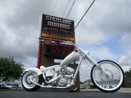 2015 240mm 117 Softail 26 Chopper - White Lightn