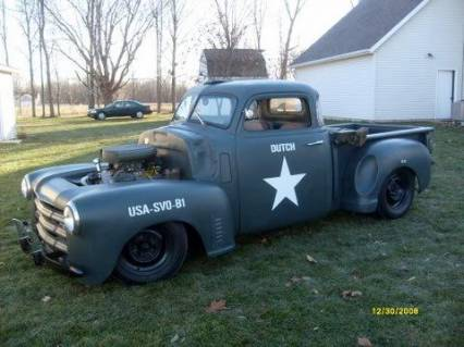 48 CHEVY OLD SCHOOL PICKUP CHOPPED STEEL REDUCED