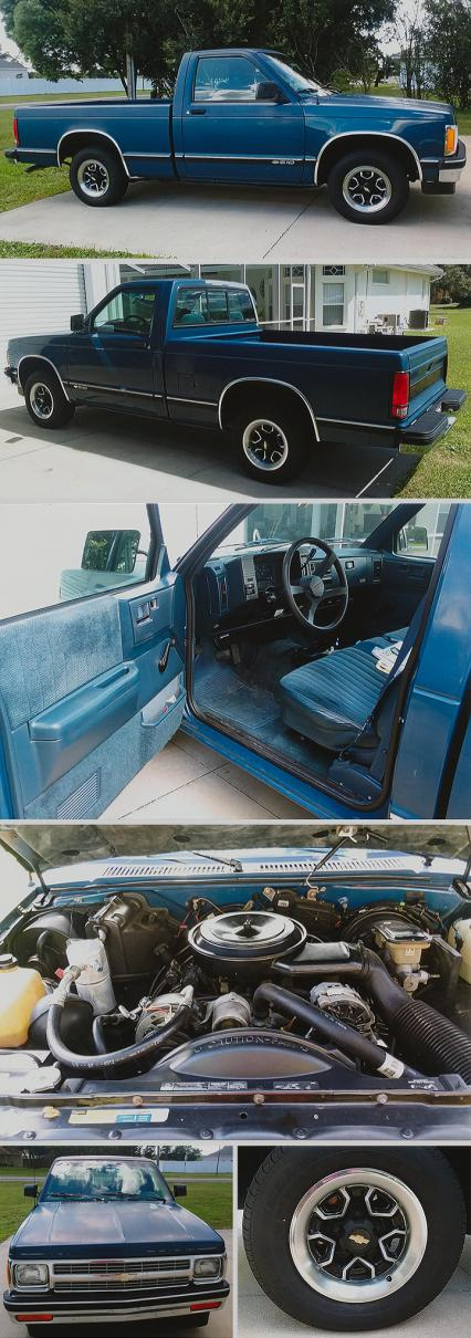 93 CHEVY S-10 PICKUP  The best 93  square box