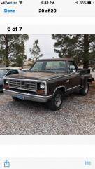 1981 dodge short box step side v-8 rust free