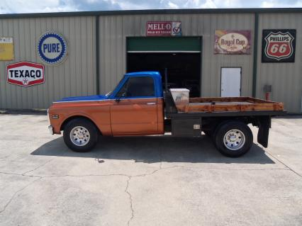 1972 Chevy Truck With Dually Flatbed Vintage A/C