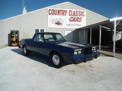 1985 Chrysler 5th ave custom coupe utility truck