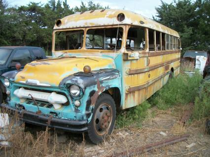 1957 Chevy 6700 school bus rat rod camper Ward bus