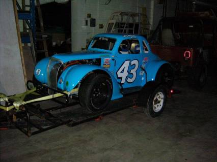 1937 Chevy Coupe Legends Race Car Like new only 5
