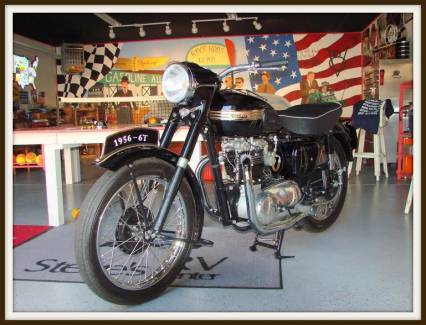 1956 TRIUMPH MC 650 CC 100 POINT PRO REDSTORATION