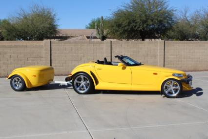 2000 plymouth prowler yellow 12000 mi with trailer