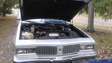 Silver 1984 OLDS Delta 88 Two-Door