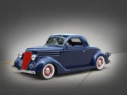 36 FORD 3 WINDOW RARE COUPE RODDED IMMACULATE 69K