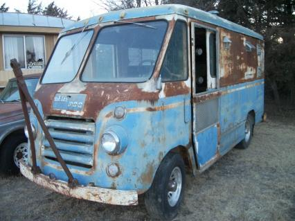 1960 white Motor Co step van PDQ 3/4 ton hippy van