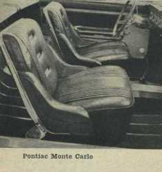 1962 Pontiac Bucket Seats