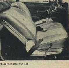 1962 Rambler Bucket Seats