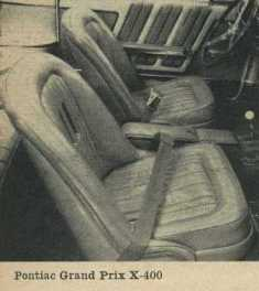 1962 Pontiac Grand Prix Bucket Seats