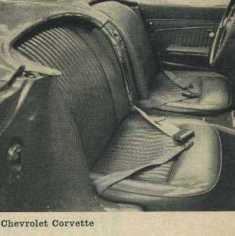 1962 Chevrolet Corvette Bucket Seats