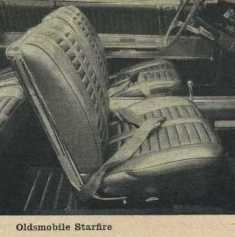 1962 Oldsmobile Starfire Bucket Seats