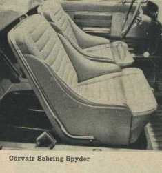 1962 Chevrolet Corvair Bucket Seats