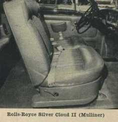 1962 Rolls-Royce Silver Cloud Bucket Seats