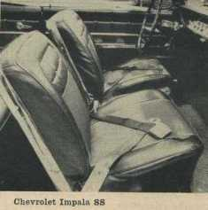 1962 Chevrolet Impala SS Bucket Seats