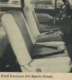 1962 Ford Fairlane Bucket Seats