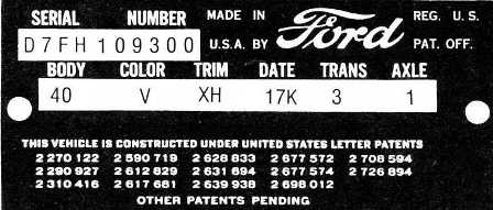 Awesome 1955 Ford Vin Decoder Chart Together With 1965 Mustang Wiring Wiring Digital Resources Cettecompassionincorg