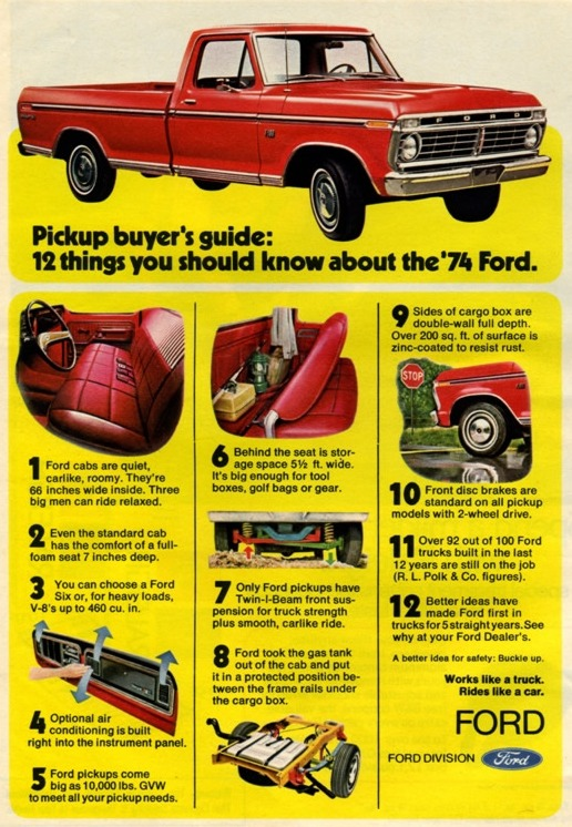 1973 ford truck colors