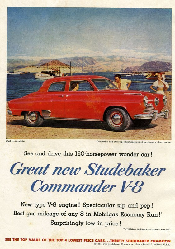 1951 Studebaker State Commander Advertisement