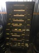 antique small auto parts cabinet