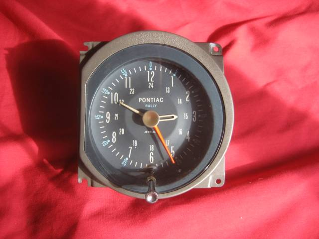 1964-1967 Pontiac GTO and Lemans Rally Clock