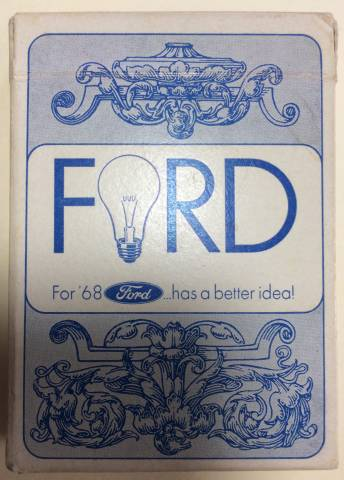 Rare 1968 Ford car line playing cards Deck
